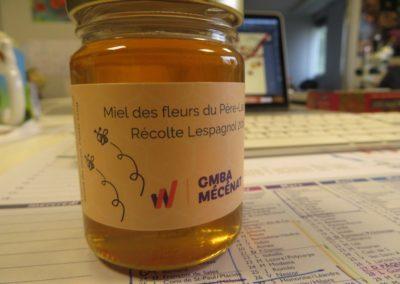 Pots de miel Récolte GMBA